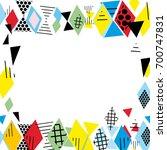 card banner template frame for... | Shutterstock .eps vector #700747831