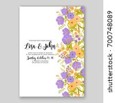 wedding invitation or card with ...   Shutterstock .eps vector #700748089