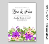 wedding invitation or card with ...   Shutterstock .eps vector #700748131