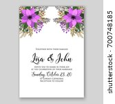 wedding invitation or card with ...   Shutterstock .eps vector #700748185