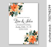 wedding invitation or card with ...   Shutterstock .eps vector #700748299