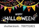 happy halloween.  celebration... | Shutterstock .eps vector #700751821