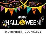 happy halloween.  celebration...   Shutterstock .eps vector #700751821