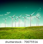 green ecology alternative energy | Shutterstock . vector #70075516