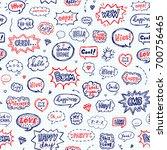 seamless pattern in school... | Shutterstock .eps vector #700756465