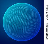 abstract wireframe sphere.... | Shutterstock . vector #700757311