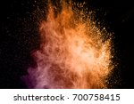 abstract art colored powder on