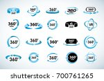 360 degrees view vector icons... | Shutterstock .eps vector #700761265