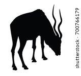 black vector silhouette of...   Shutterstock .eps vector #700766179