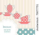 background with retro polka dot ... | Shutterstock .eps vector #70077751