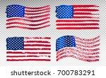 Set Of Grunge American Flag....