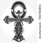 ankh tattoo and t shirt design  ... | Shutterstock .eps vector #700783801