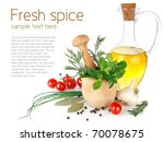 fresh spice with vegetables and ...   Shutterstock . vector #70078675