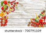 fresh vegetables tomato ... | Shutterstock . vector #700791109