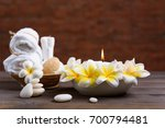 spa wellness and treatment with ... | Shutterstock . vector #700794481
