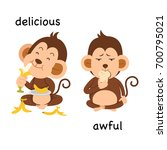 opposite delicious and awful... | Shutterstock .eps vector #700795021