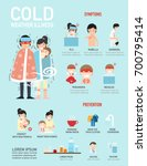 cold weather illness... | Shutterstock .eps vector #700795414