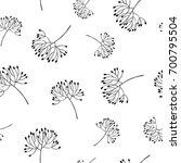 flowers bud silhouette seamless ... | Shutterstock .eps vector #700795504