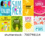 summer posters set with ice... | Shutterstock .eps vector #700798114