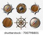 set of steel and wooden...   Shutterstock .eps vector #700798801