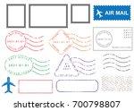 blank postal stamps set... | Shutterstock .eps vector #700798807