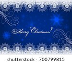 christmas blue background with... | Shutterstock .eps vector #700799815