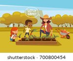 smiling multiracial children... | Shutterstock .eps vector #700800454