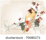 grunge background with a yellow ... | Shutterstock .eps vector #70080271