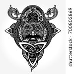 viking tattoo and t shirt... | Shutterstock .eps vector #700802869