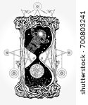 hourglass tattoo and t shirt... | Shutterstock .eps vector #700803241