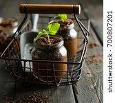 vegan chocolate banana avocado... | Shutterstock . vector #700807201