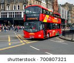 bus from edinburgh. edinburgh ... | Shutterstock . vector #700807321