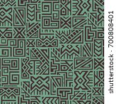 creative ethnic style square... | Shutterstock .eps vector #700808401