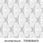 white abstract hexagonal... | Shutterstock . vector #700808605