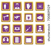 phobia symbols icons set in... | Shutterstock .eps vector #700809529