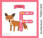 letter f uppercase cute... | Shutterstock .eps vector #700811365