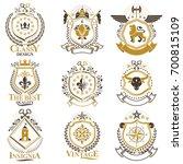 vintage decorative heraldic... | Shutterstock . vector #700815109