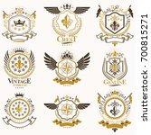 classy heraldic coat of arms.... | Shutterstock . vector #700815271