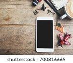 travel accessories of smart... | Shutterstock . vector #700816669