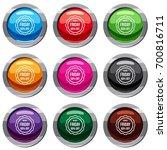 sale sticker 50 percent off set ... | Shutterstock .eps vector #700816711