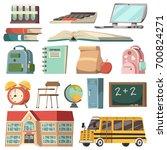 school isolated orthogonal icon ...   Shutterstock .eps vector #700824271