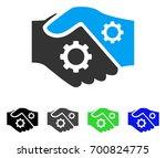 smart contract handshake flat... | Shutterstock .eps vector #700824775