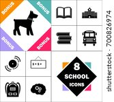 dog icon and set perfect back... | Shutterstock .eps vector #700826974