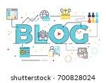 blog word lettering for... | Shutterstock .eps vector #700828024