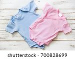 pink and blue baby romper on...   Shutterstock . vector #700828699