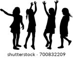 vector silhouette of children... | Shutterstock .eps vector #700832209