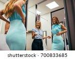 portrait of a lovely woman... | Shutterstock . vector #700833685