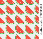summer seamless background with ... | Shutterstock .eps vector #700833841
