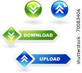 download button set. vector set ...   Shutterstock .eps vector #70083406