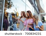 photo of surprised women with... | Shutterstock . vector #700834231